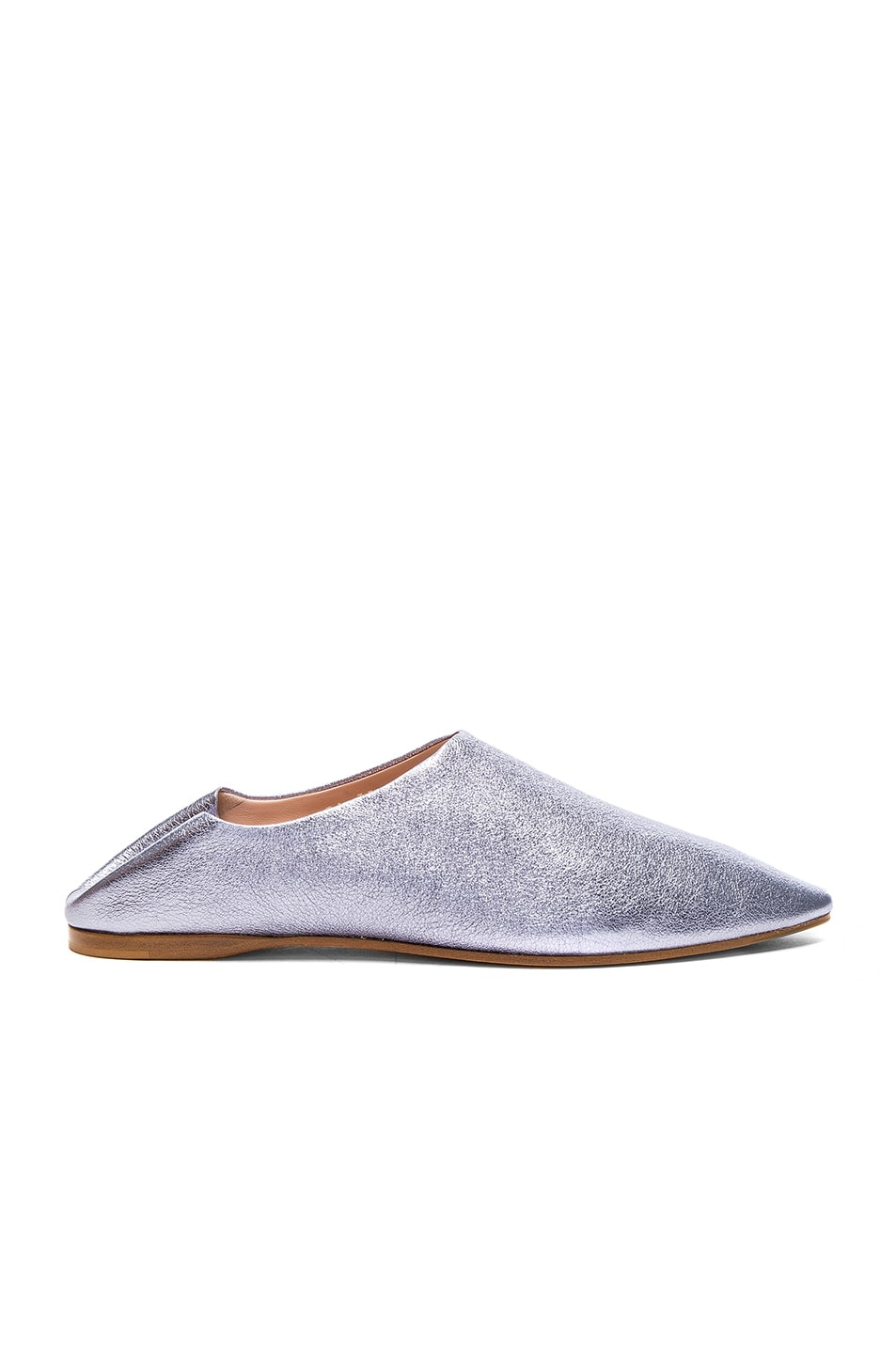 Image 1 of Acne Studios Leather Amina Space Flats in Lavender Grey