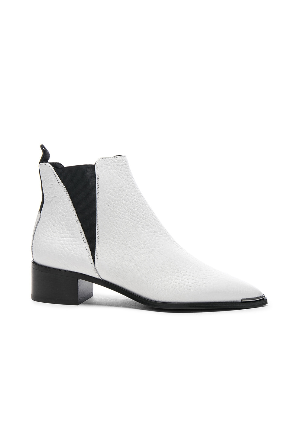 Image 1 of Acne Studios Grained Leather Jensen Booties in White