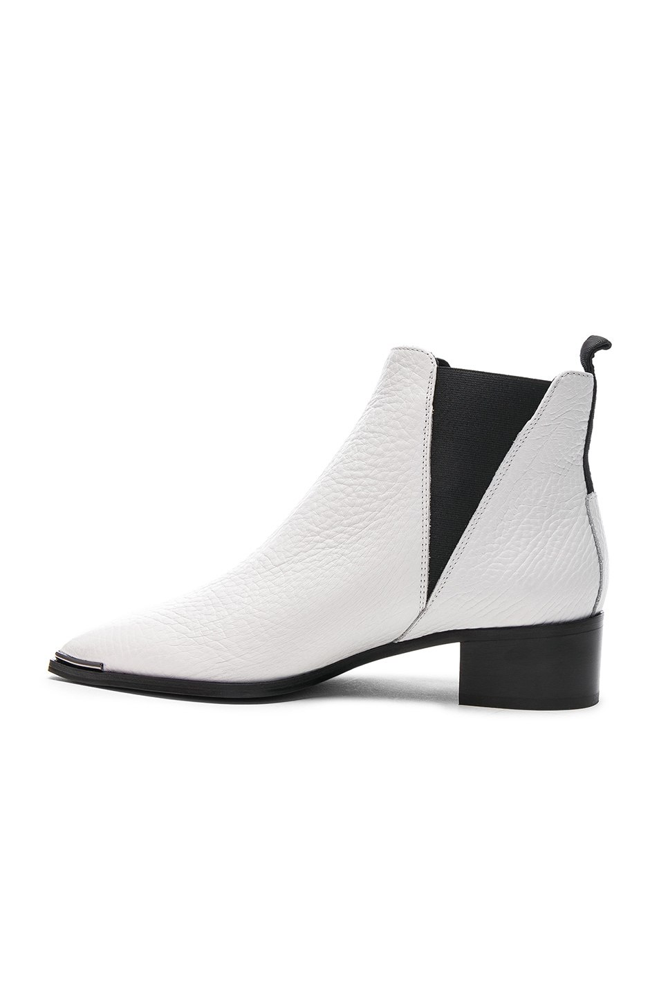 Image 5 of Acne Studios Grained Leather Jensen Booties in White