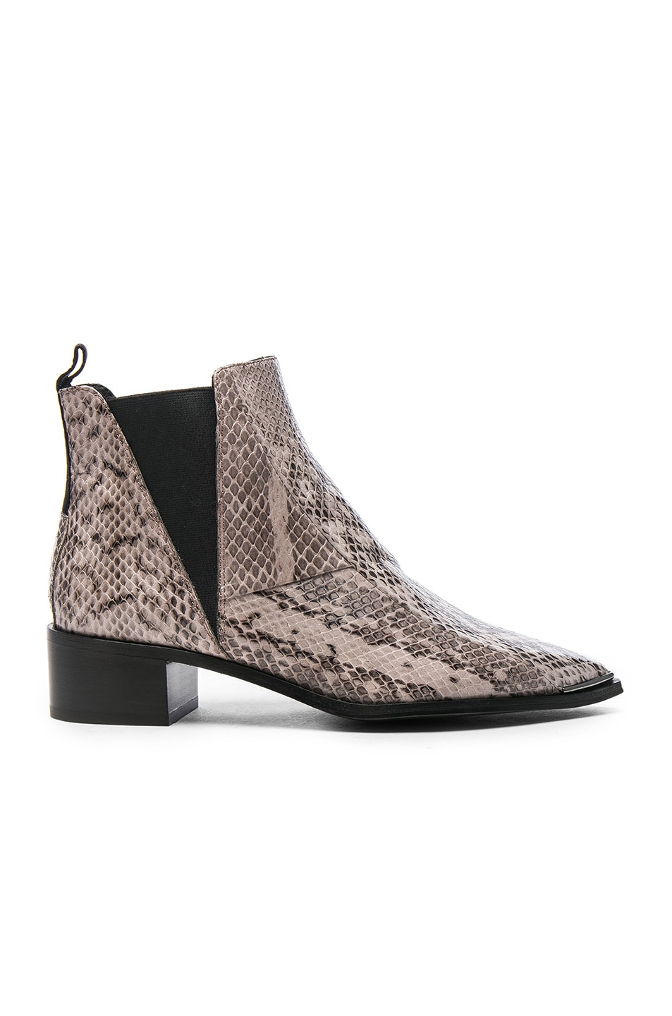 Image 1 of Acne Studios Jensen Snake Booties in Platinum Grey
