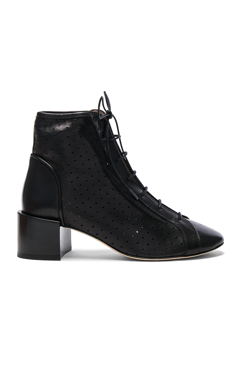 Image 1 of Acne Studios Leather Mable Booties in Black