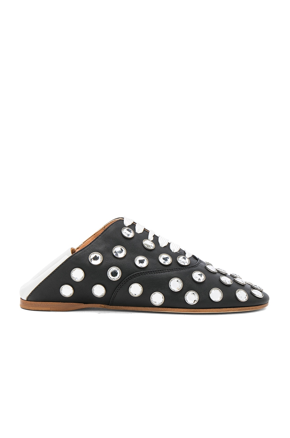 Image 1 of Acne Studios Mike Stone Leather Mules in Black & White