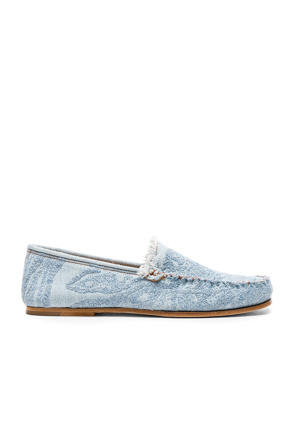 Image 1 of Acne Studios Jackson Denim Loafers in Light Blue