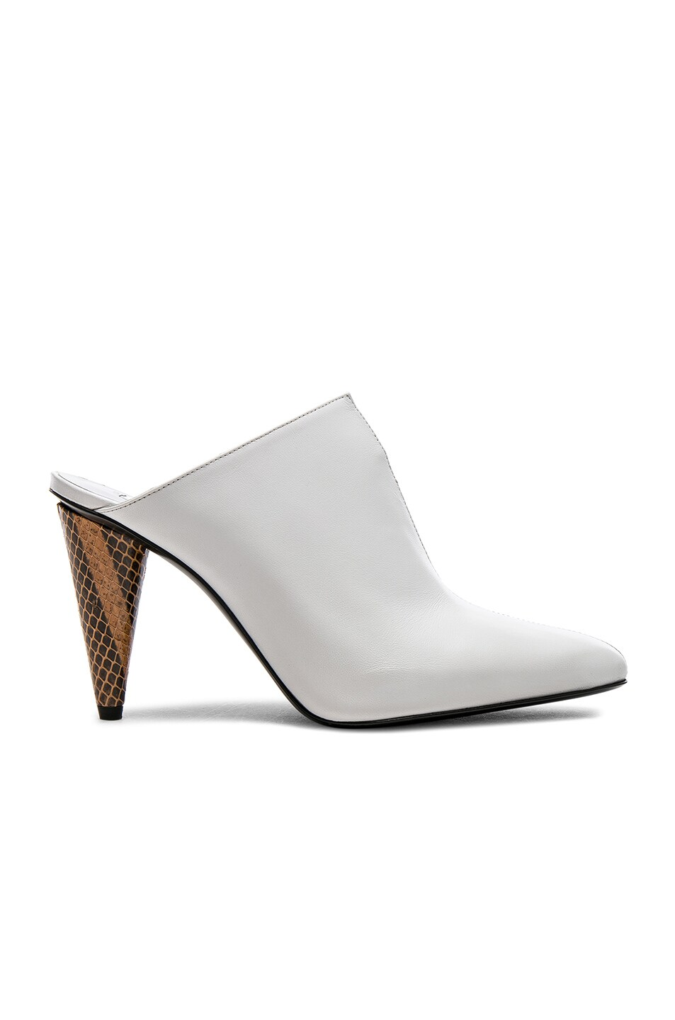 Image 1 of Acne Studios Leather Demy Mules in Multi White