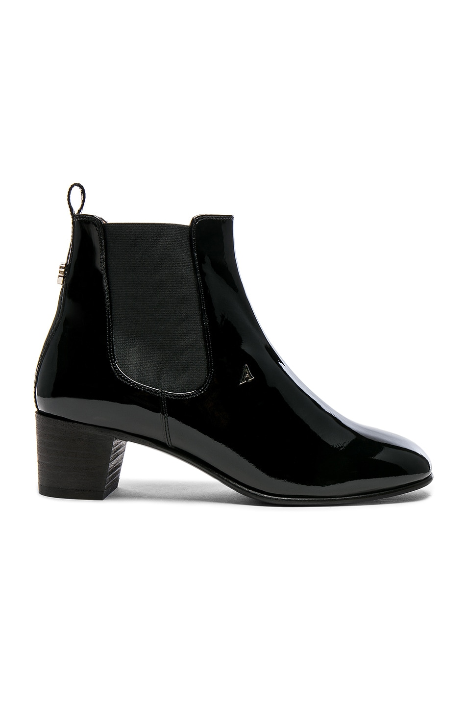 Image 1 of Acne Studios Patent Leather Hely Boots in Black