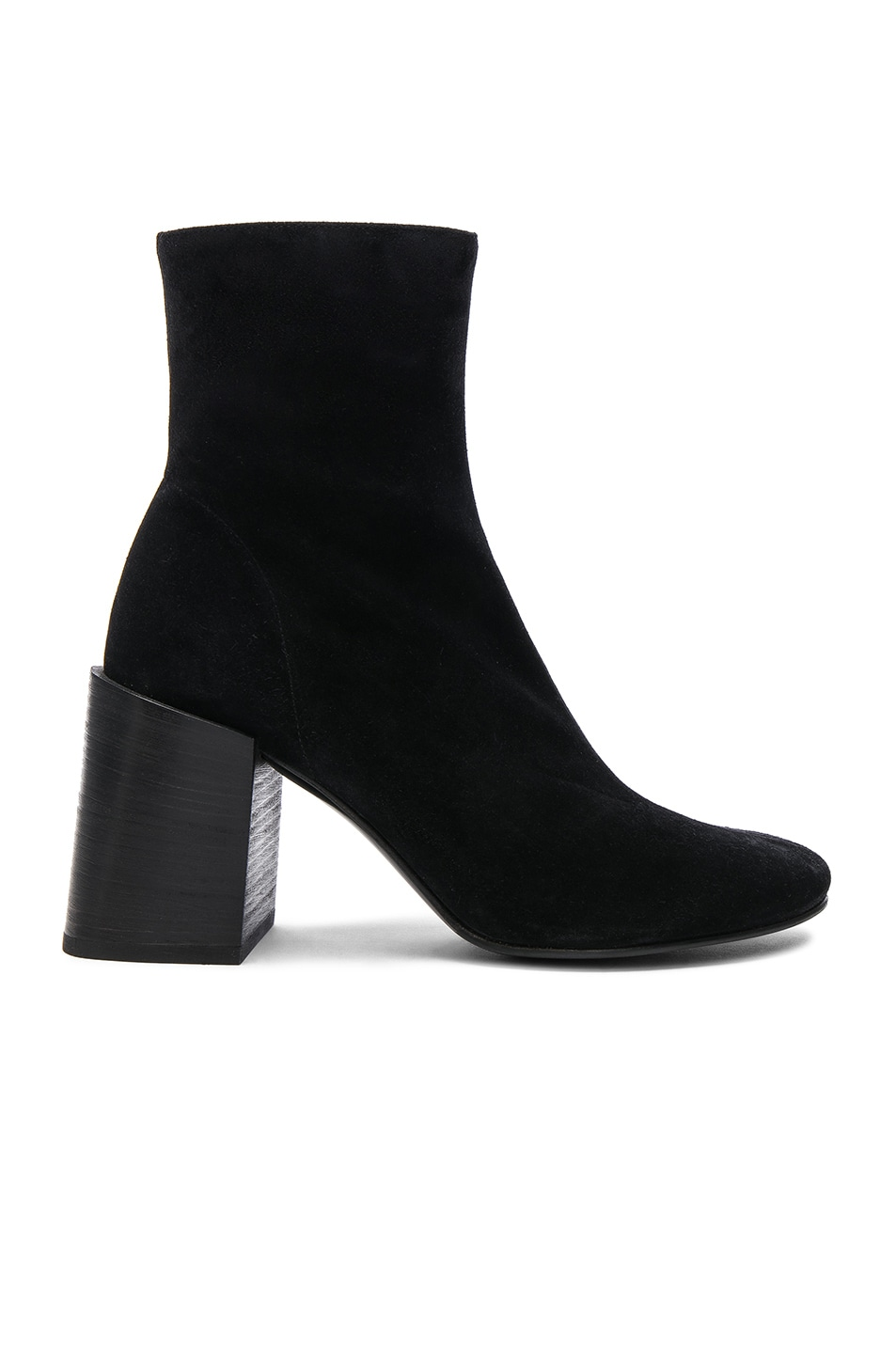 Image 1 of Acne Studios Saul Reverse Leather Boots in Black