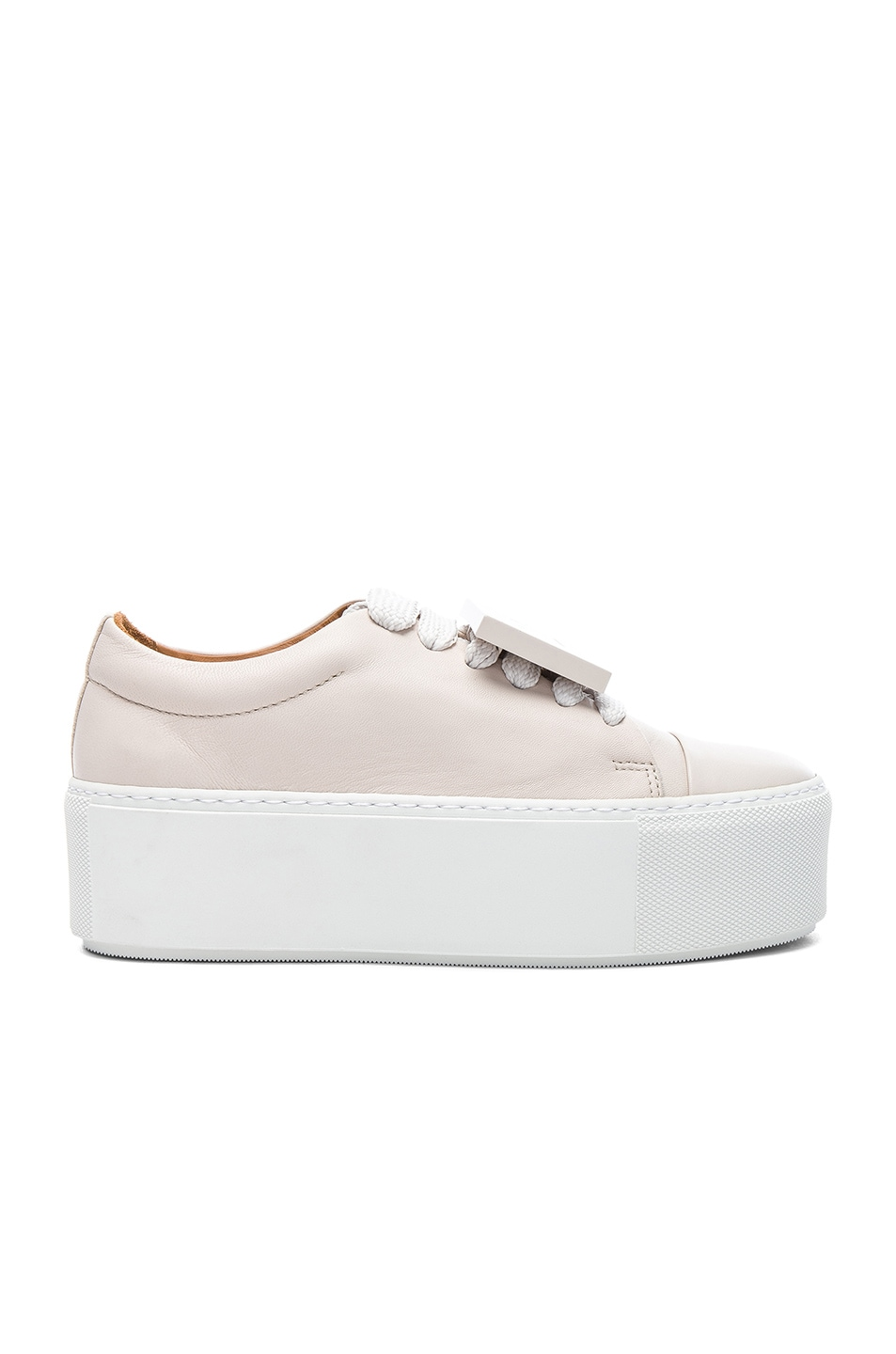 Acne Nappa Leather Drihanna Sneakers in Off & Amber Quality From China Wholesale Good Selling JWFDt