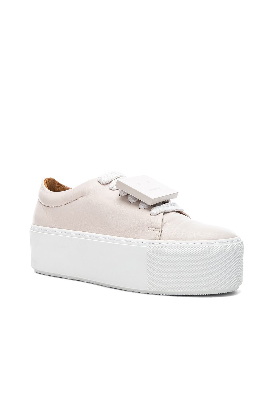 ef92afae5787 Image 2 of Acne Studios Nappa Leather Drihanna Sneakers in Off White   Amber