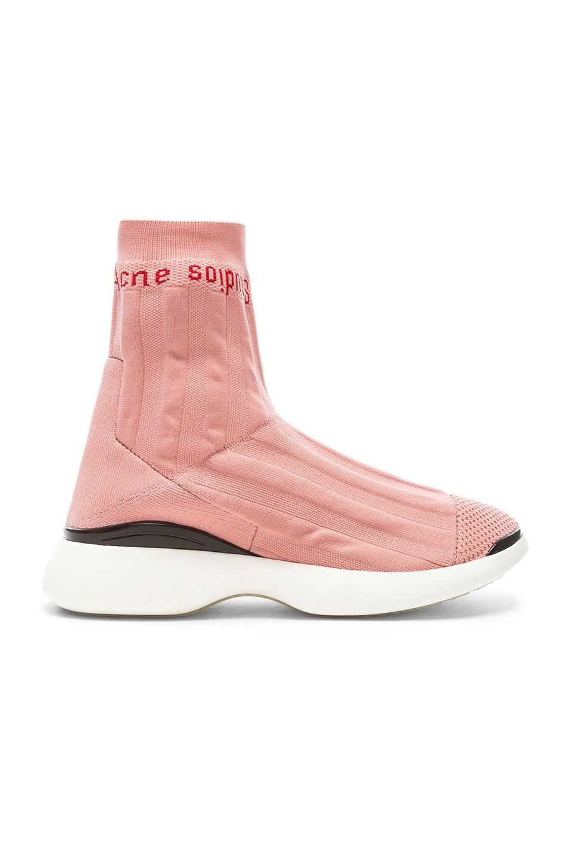 736eb68c47c Image 1 of Acne Studios Batilda Sock Sneakers in Pink   White