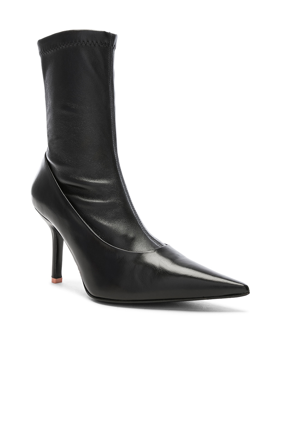 Image 2 of Acne Studios Leather Boots in Black
