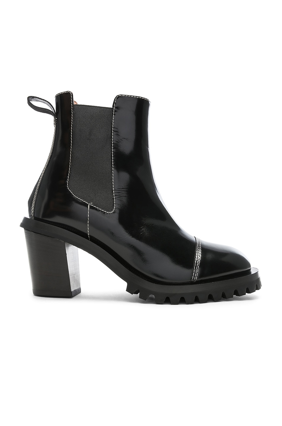 Image 1 of Acne Studios Leather Heeled Boots in Black