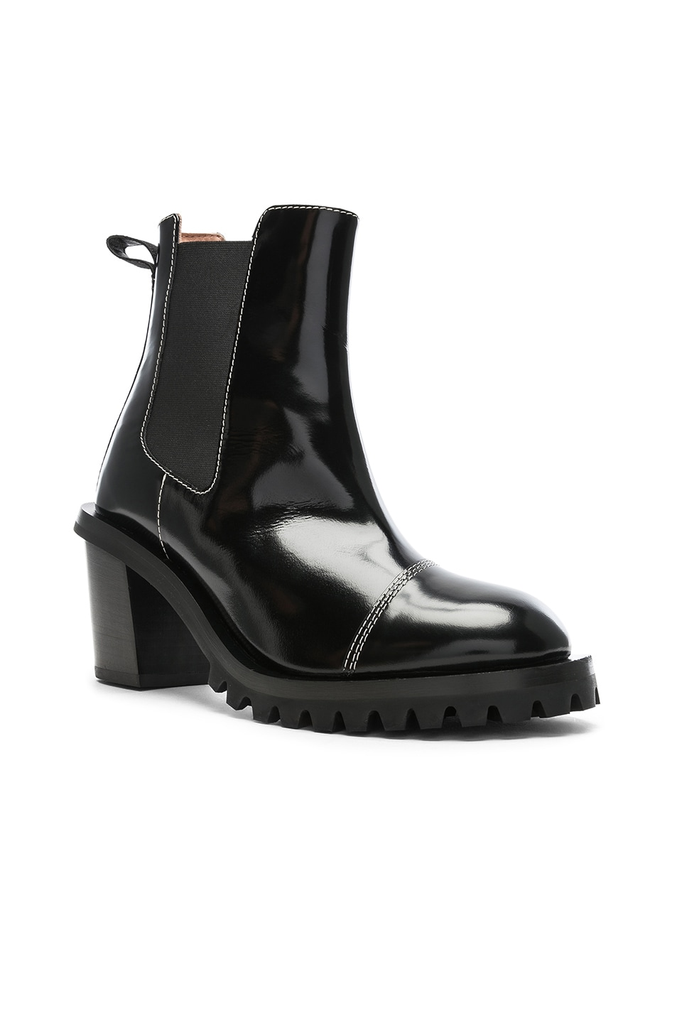 Image 2 of Acne Studios Leather Heeled Boots in Black