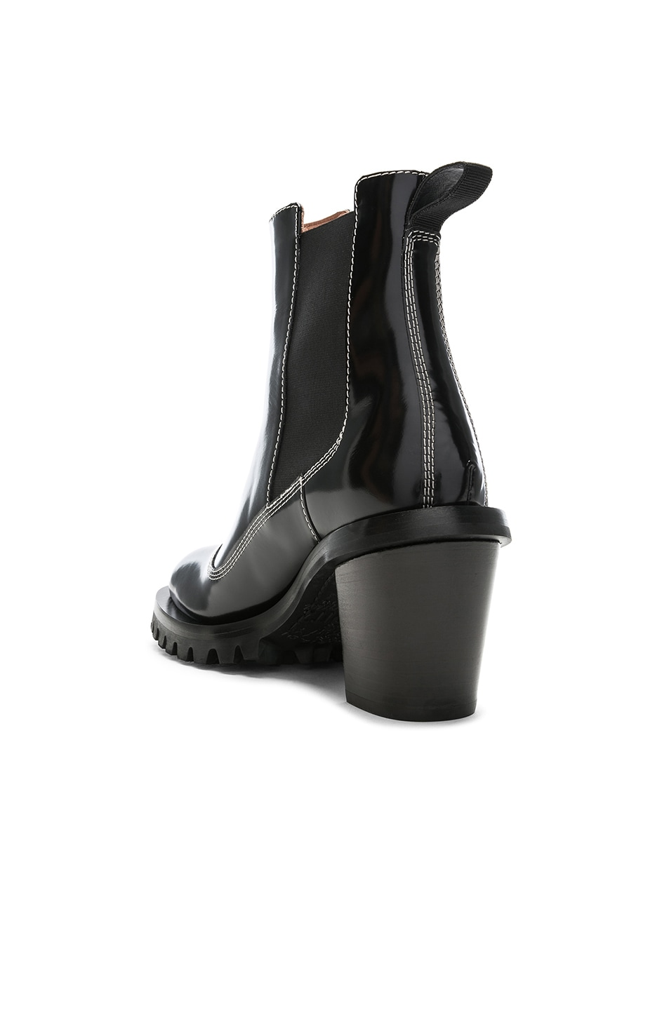 Image 3 of Acne Studios Leather Heeled Boots in Black