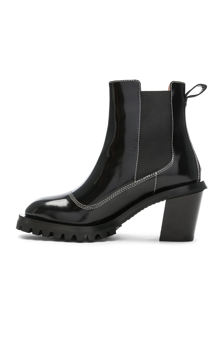 Image 5 of Acne Studios Leather Heeled Boots in Black