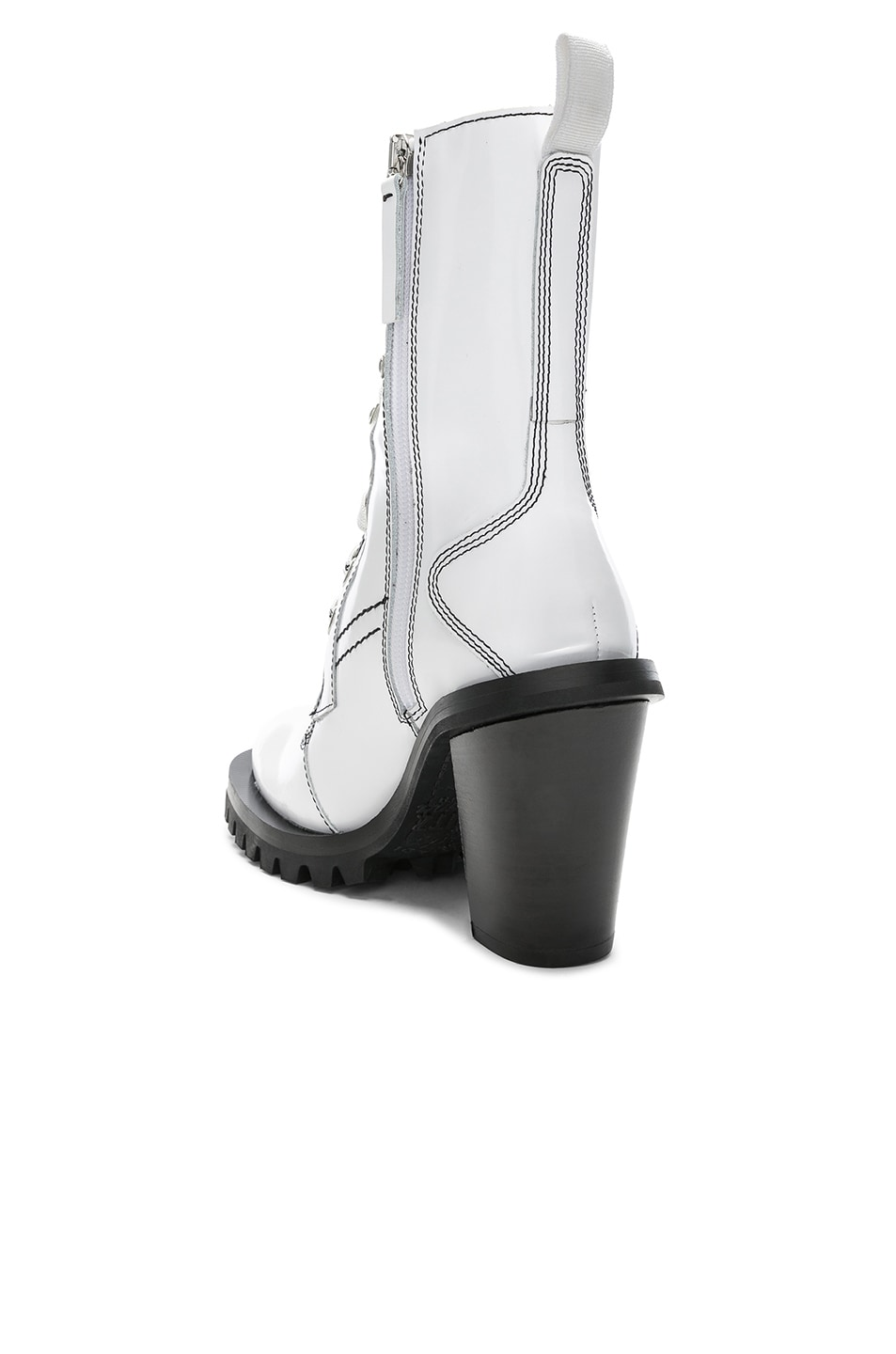 Image 3 of Acne Studios Leather Lace Up Boots in White