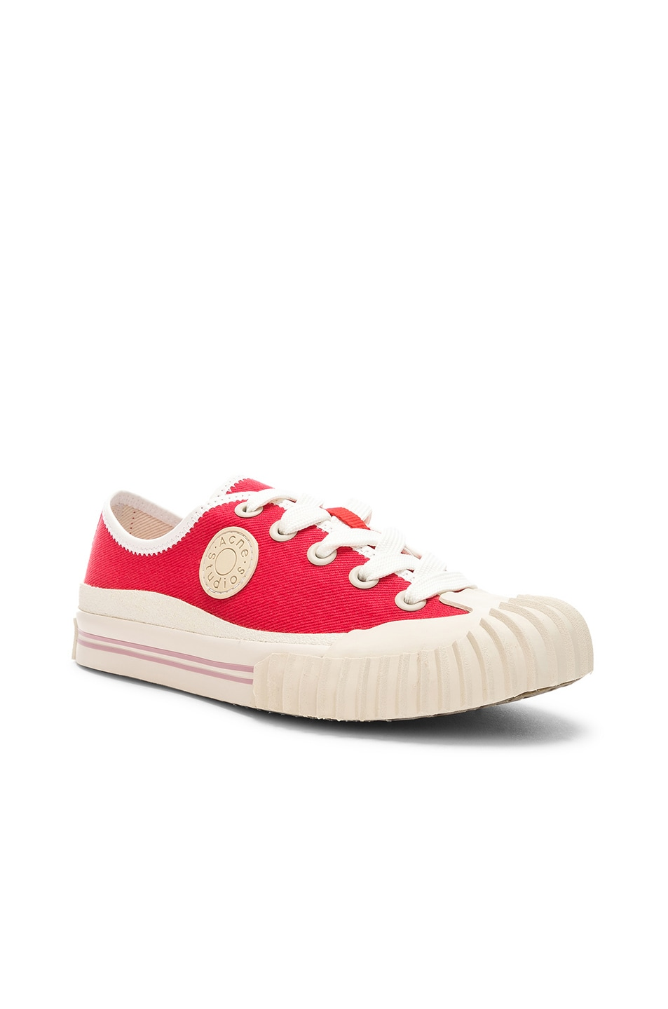 Image 2 of Acne Studios x Bla Konst Sneaker in Coral Red