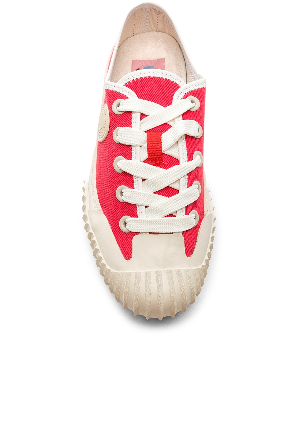 Image 4 of Acne Studios x Bla Konst Sneaker in Coral Red