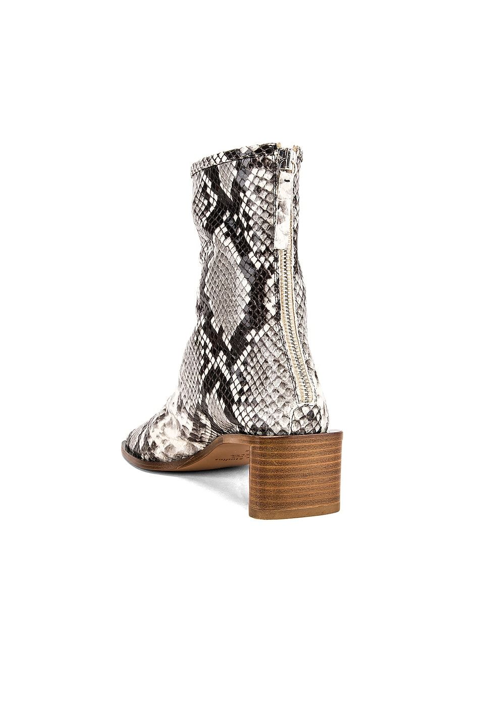 Image 3 of Acne Studios Bertine Snake Boots in White & Beige