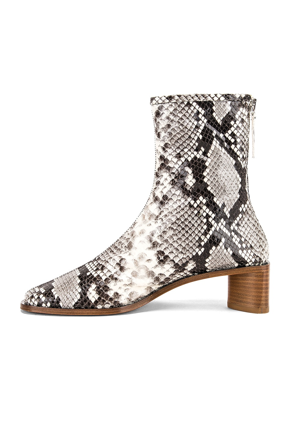 Image 5 of Acne Studios Bertine Snake Boots in White & Beige