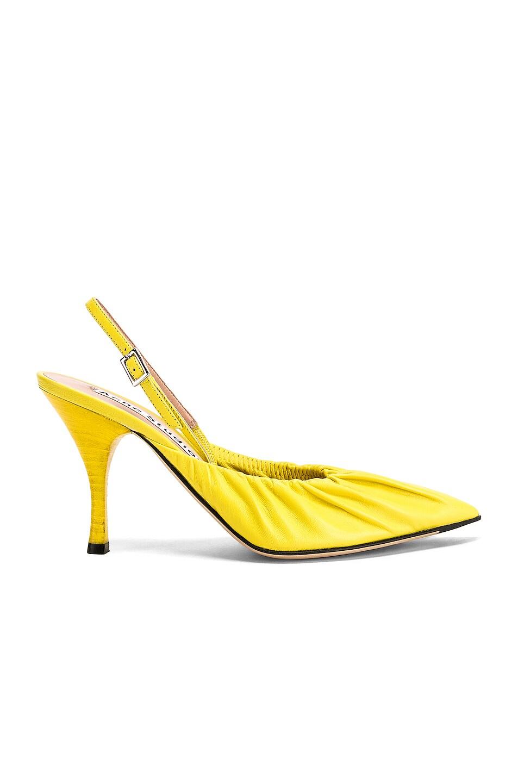 Image 1 of Acne Studios Beatrice Heels in Banana Yellow