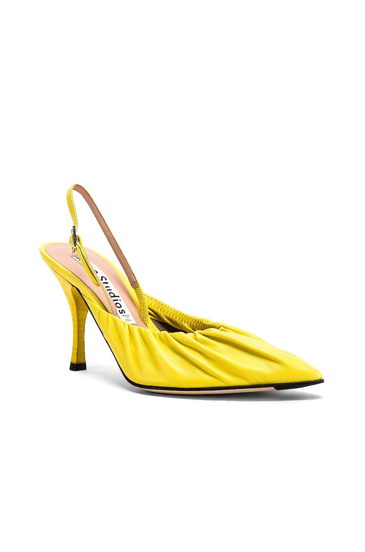 Image 2 of Acne Studios Beatrice Heels in Banana Yellow