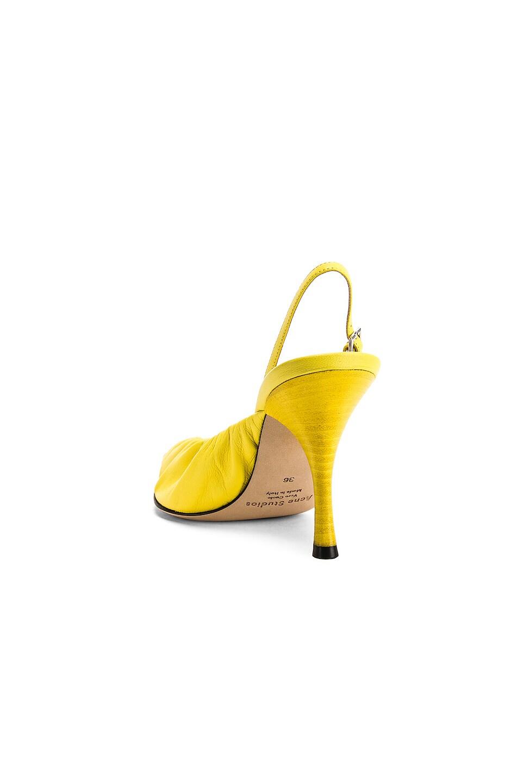Image 3 of Acne Studios Beatrice Heels in Banana Yellow