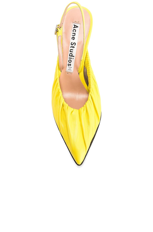 Image 4 of Acne Studios Beatrice Heels in Banana Yellow