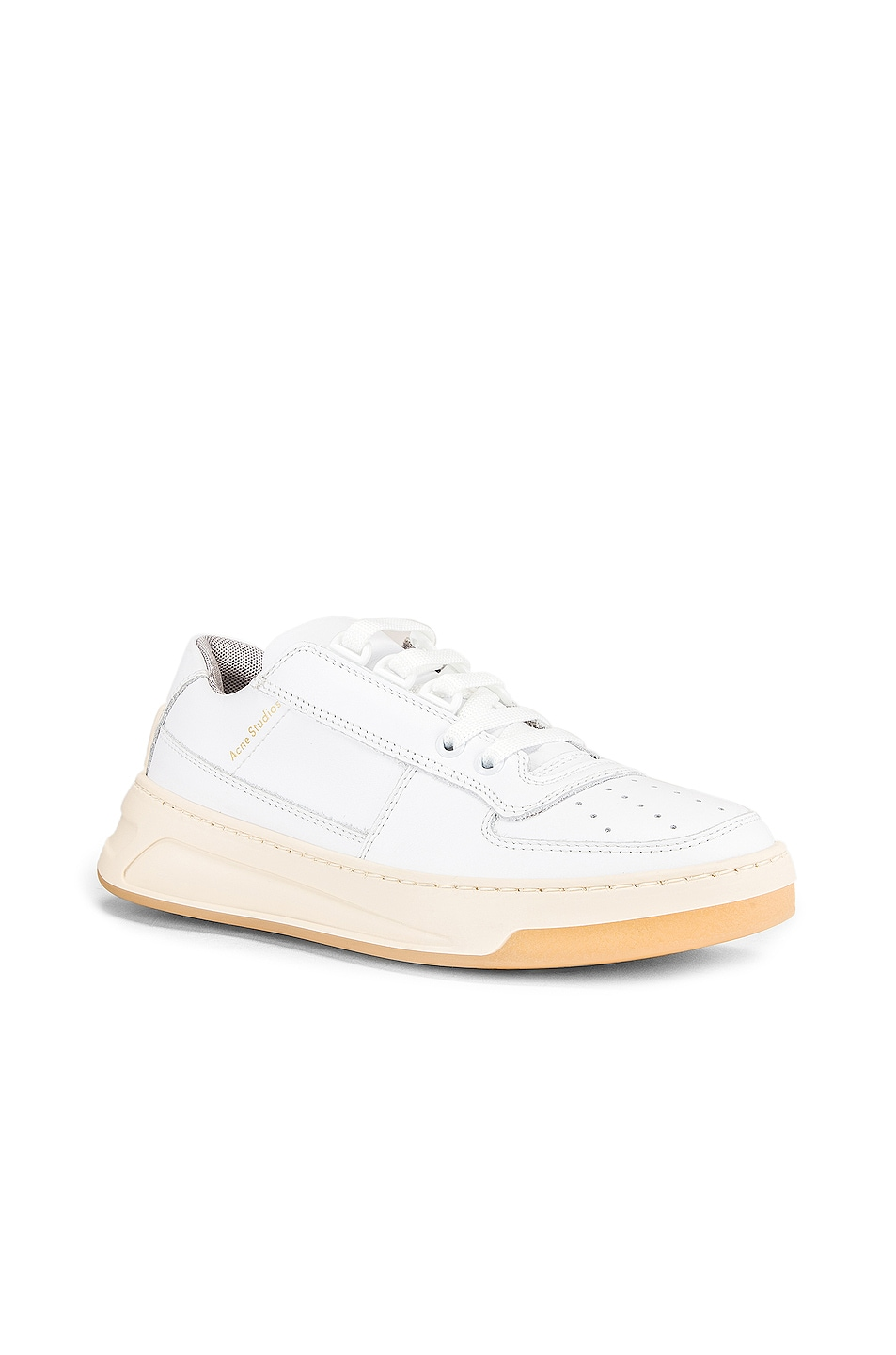Image 2 of Acne Studios Steffey Lace Up Sneaker in White & White