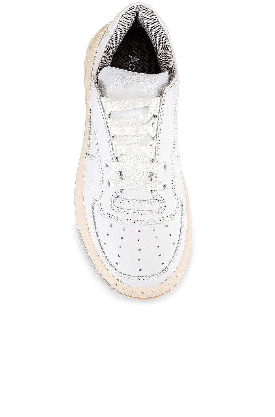 Image 4 of Acne Studios Steffey Lace Up Sneaker in White & White
