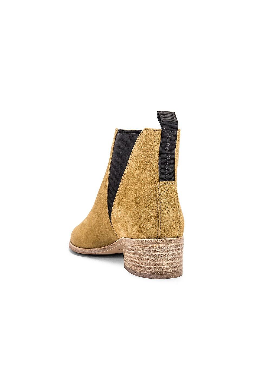 Image 3 of Acne Studios Jensen Suede Boots in Beige & Beige