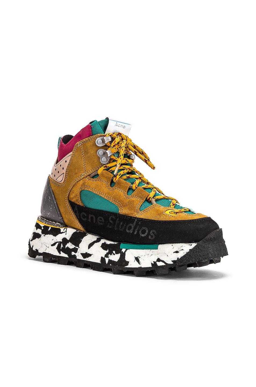 Image 2 of Acne Studios Bertrand Sneakers in Multi Brown