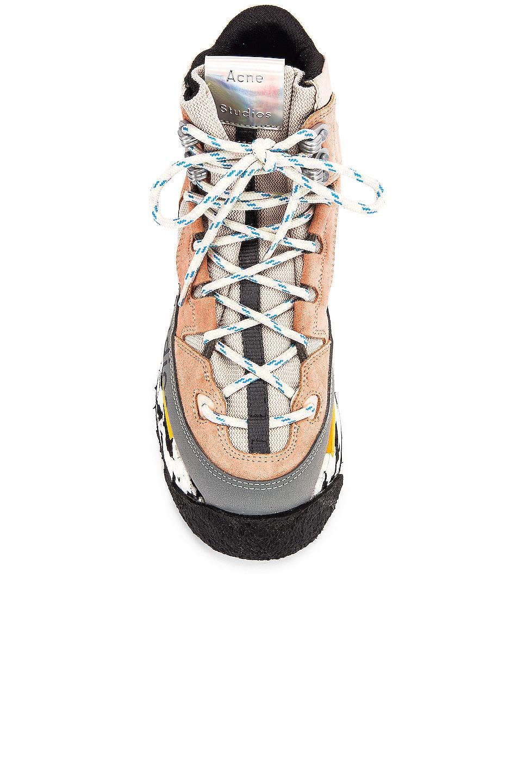 Image 4 of Acne Studios Bertrand Sneakers in Multi Pink