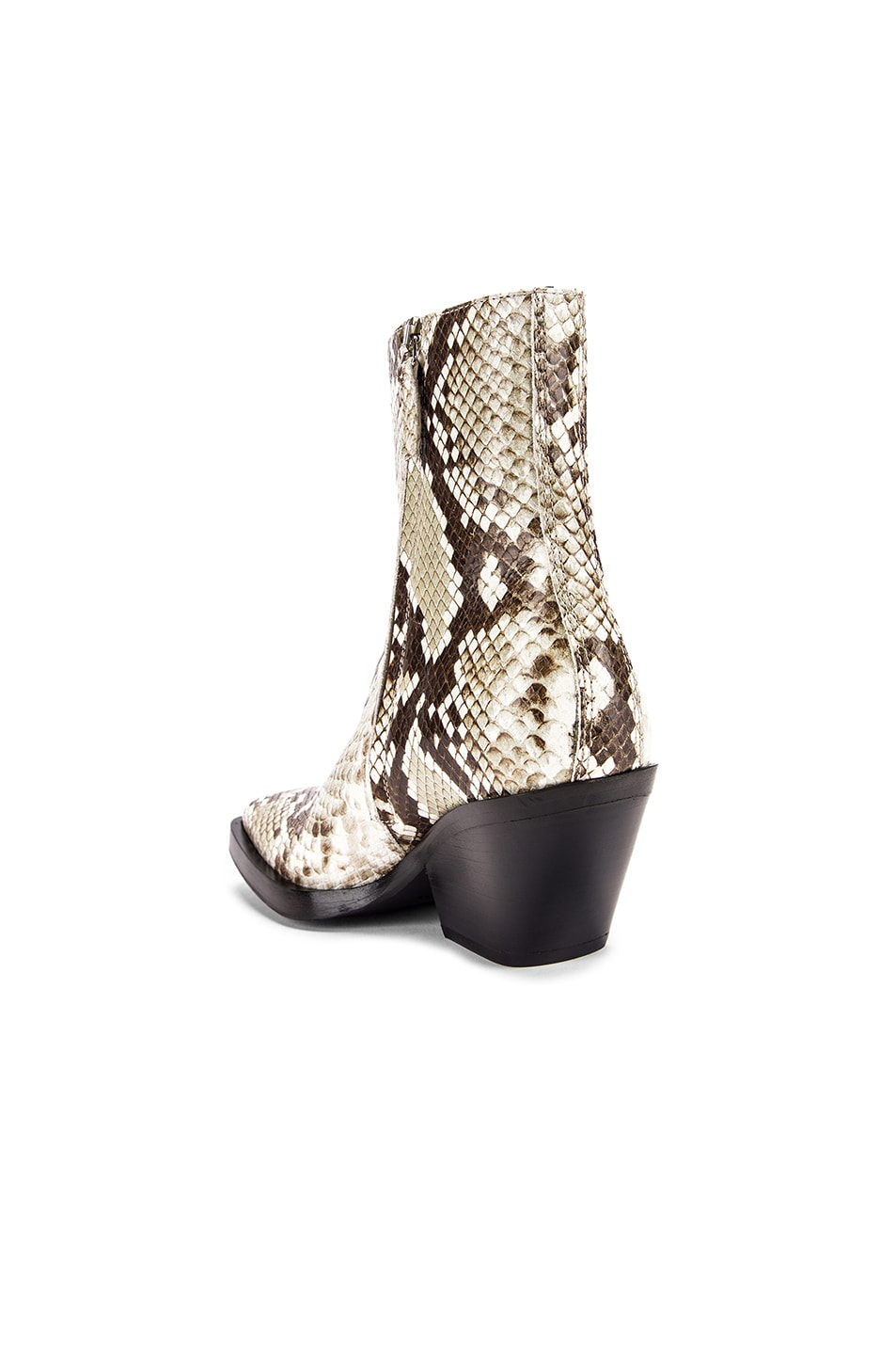 Image 3 of Acne Studios Braxton Snake Boots in Off White