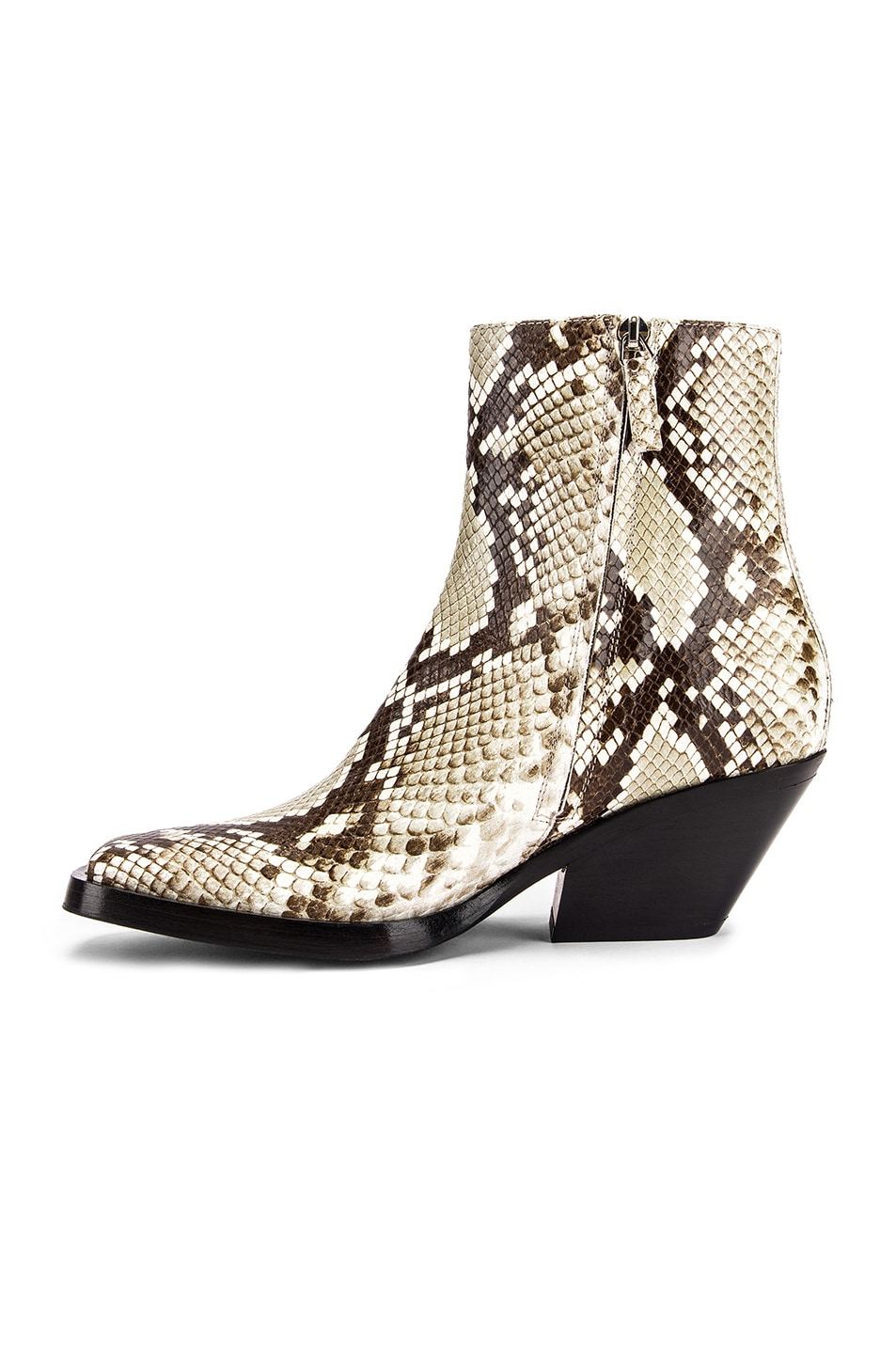 Image 5 of Acne Studios Braxton Snake Boots in Off White