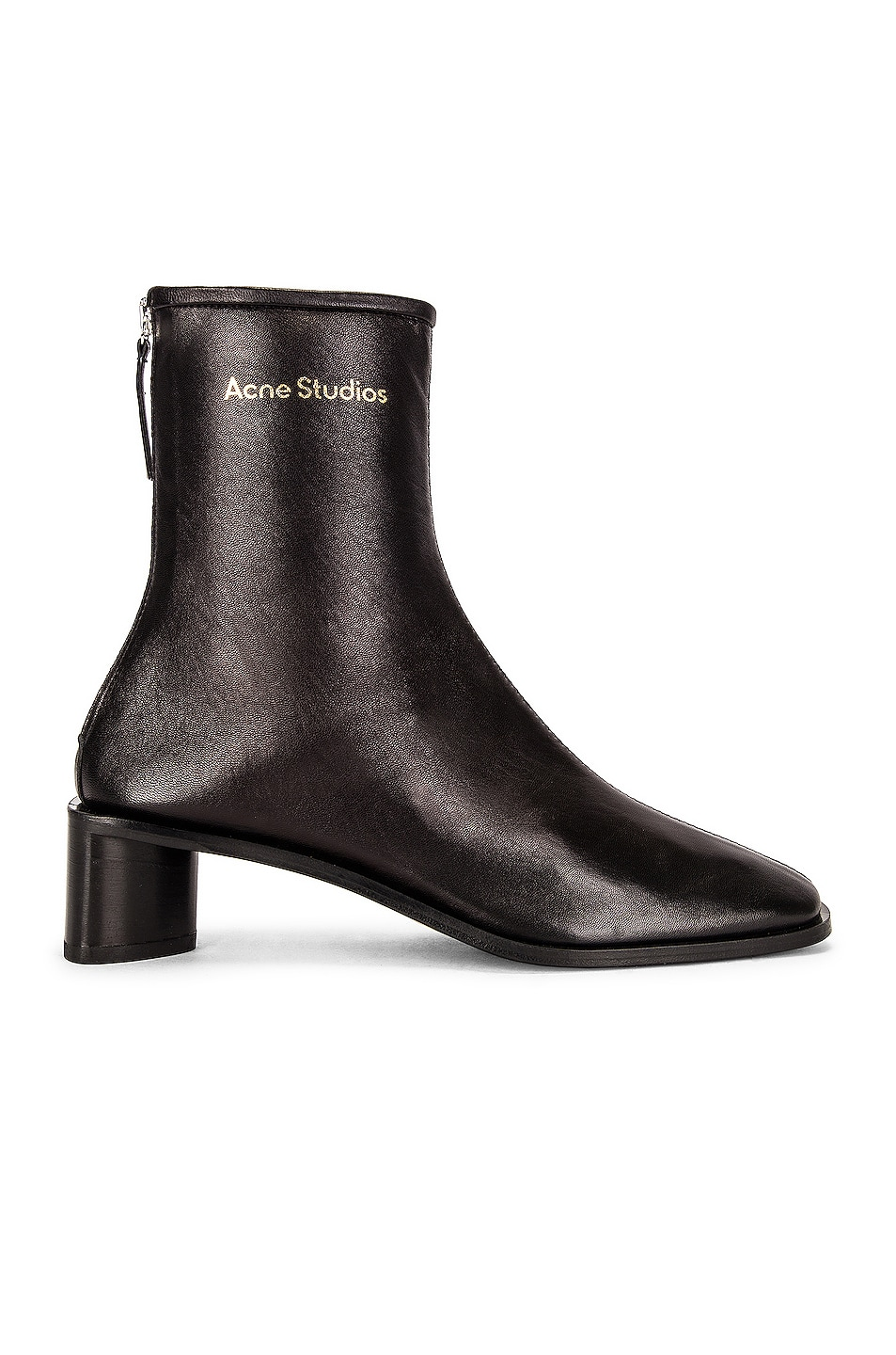 Image 1 of Acne Studios Pointed Ankle Boot in Black & Black