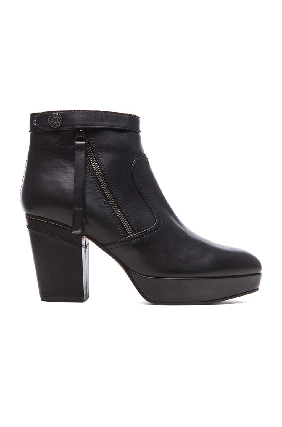 Image 1 of Acne Studios Track Leather Booties in Black