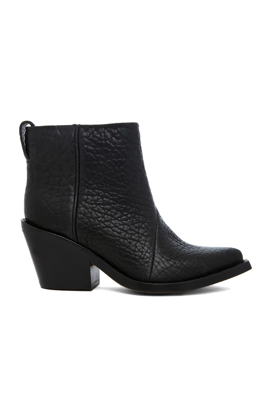 Image 1 of Acne Studios Donna Pebbled Leather Booties in Black