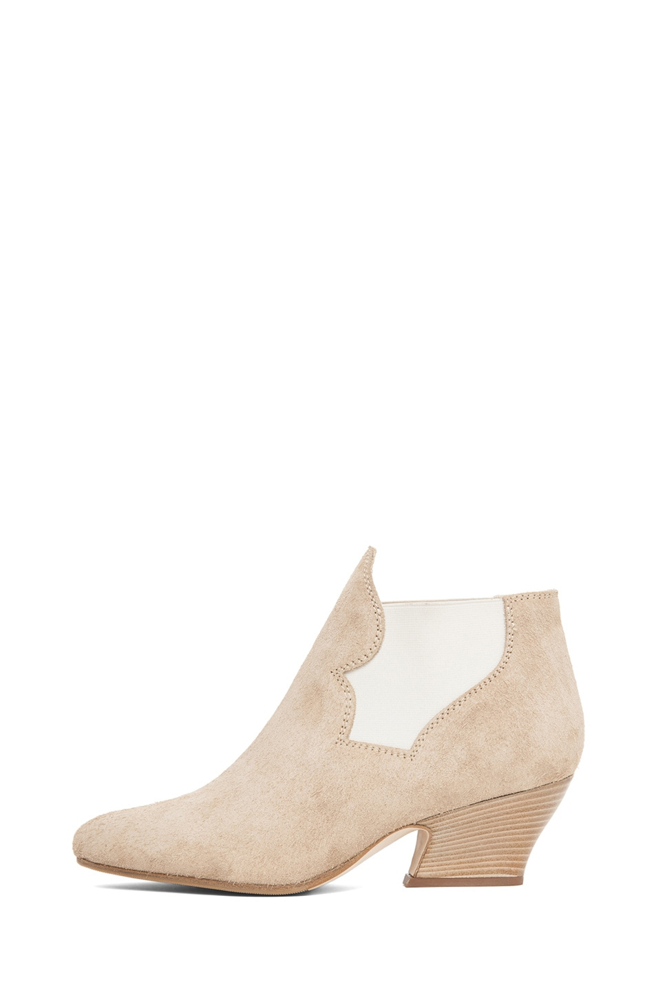 Image 1 of Acne Studios Alma Suede Bootie in Taupe