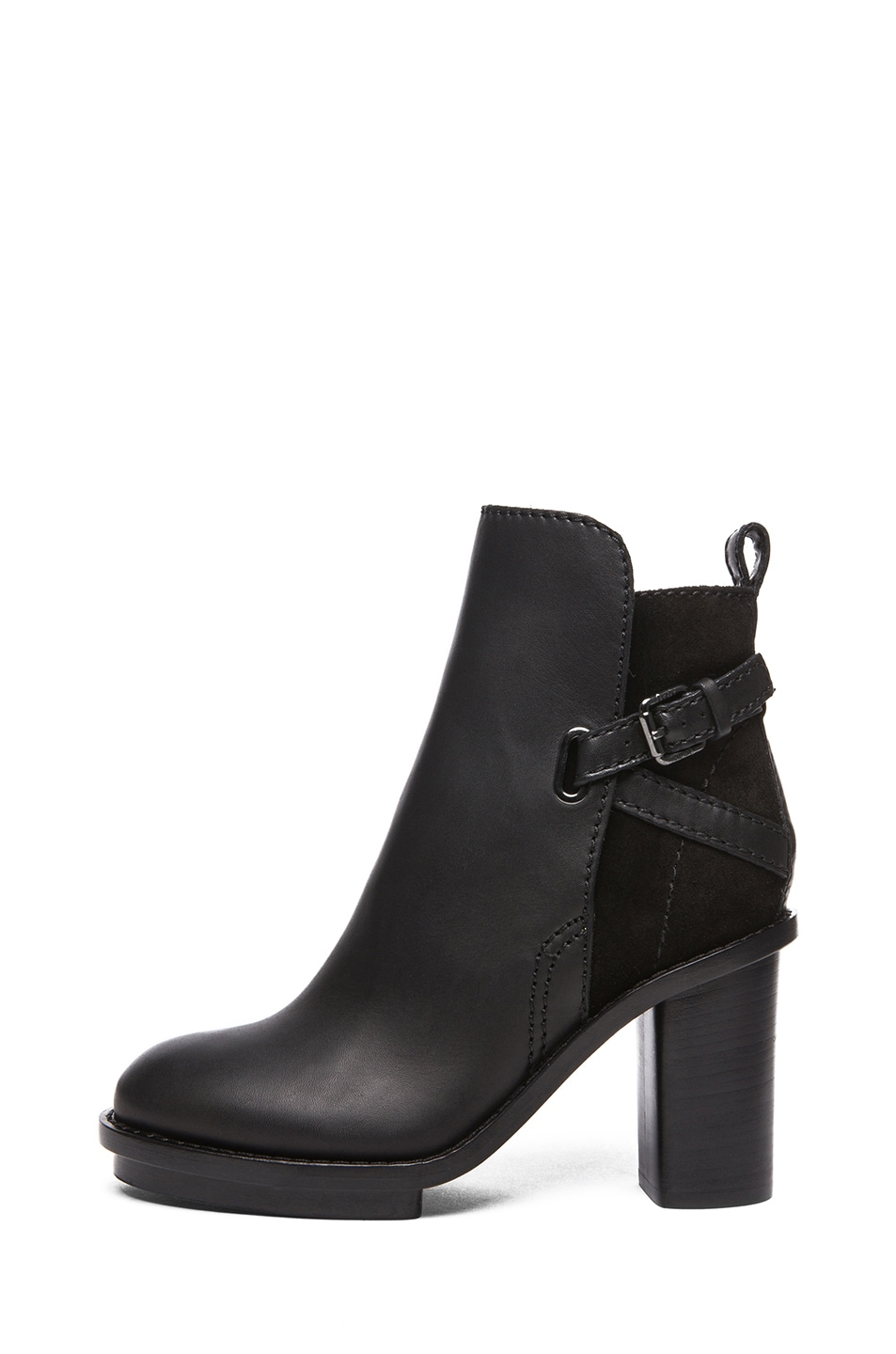 Image 1 of Acne Studios Cypress Leather Booties in Black