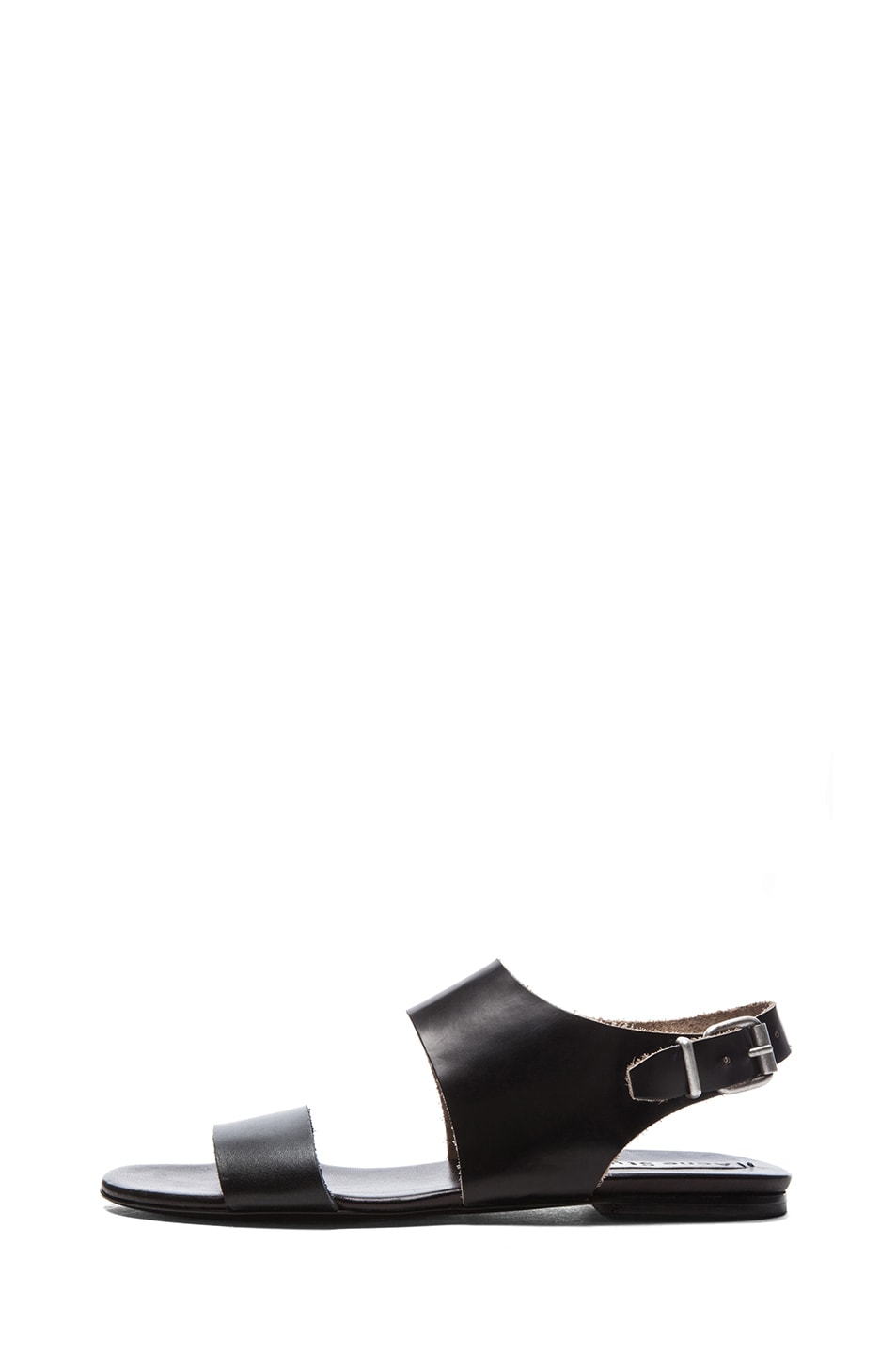Image 1 of Acne Studios Lottie Leather Sandals in Black