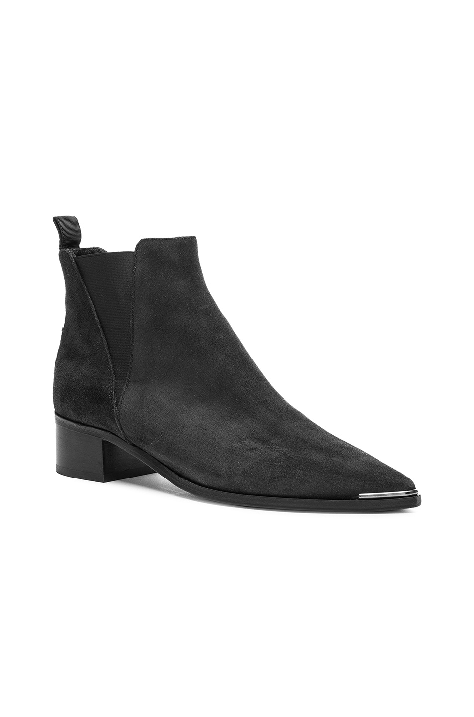 Image 2 of Acne Studios Suede Jensen Boots in Black
