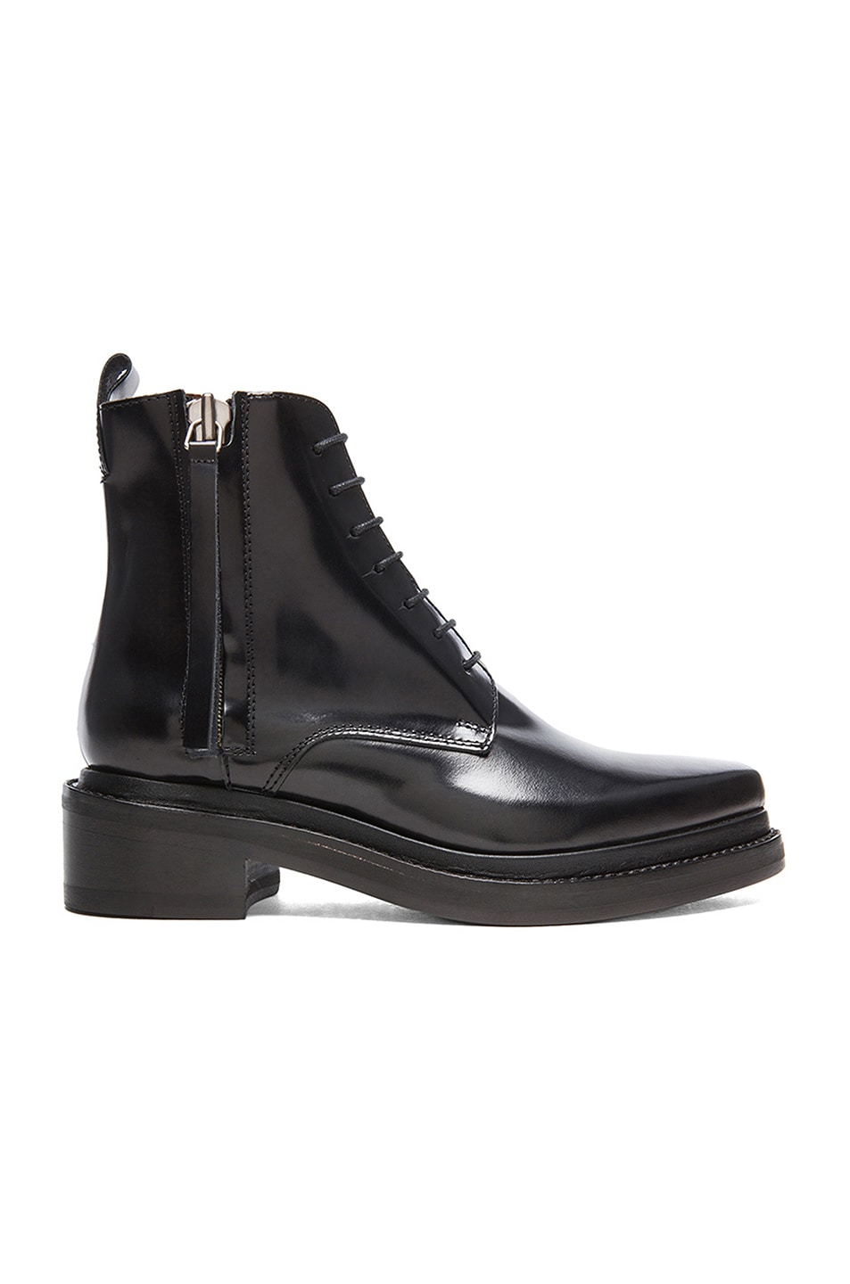 Image 1 of Acne Studios Linden Leather Boots in Black