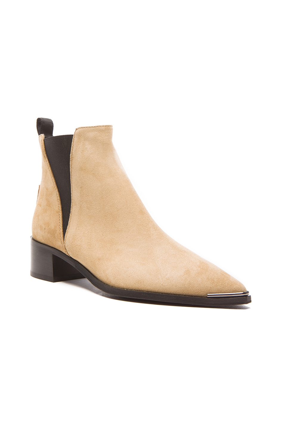 Image 2 of Acne Studios Jensen Suede Booties in Beige