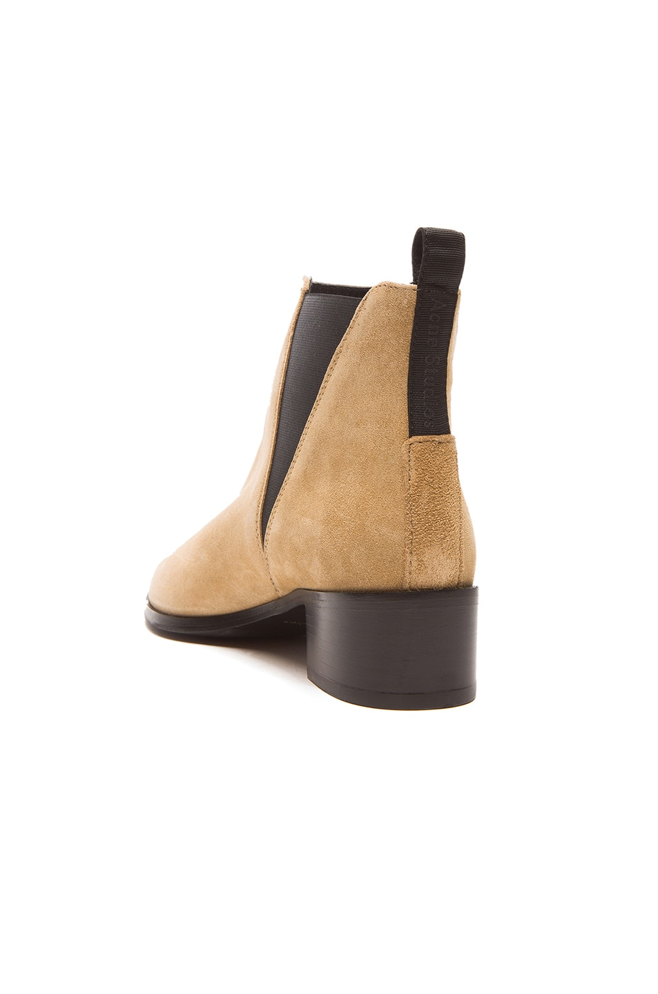 Image 3 of Acne Studios Jensen Suede Booties in Beige