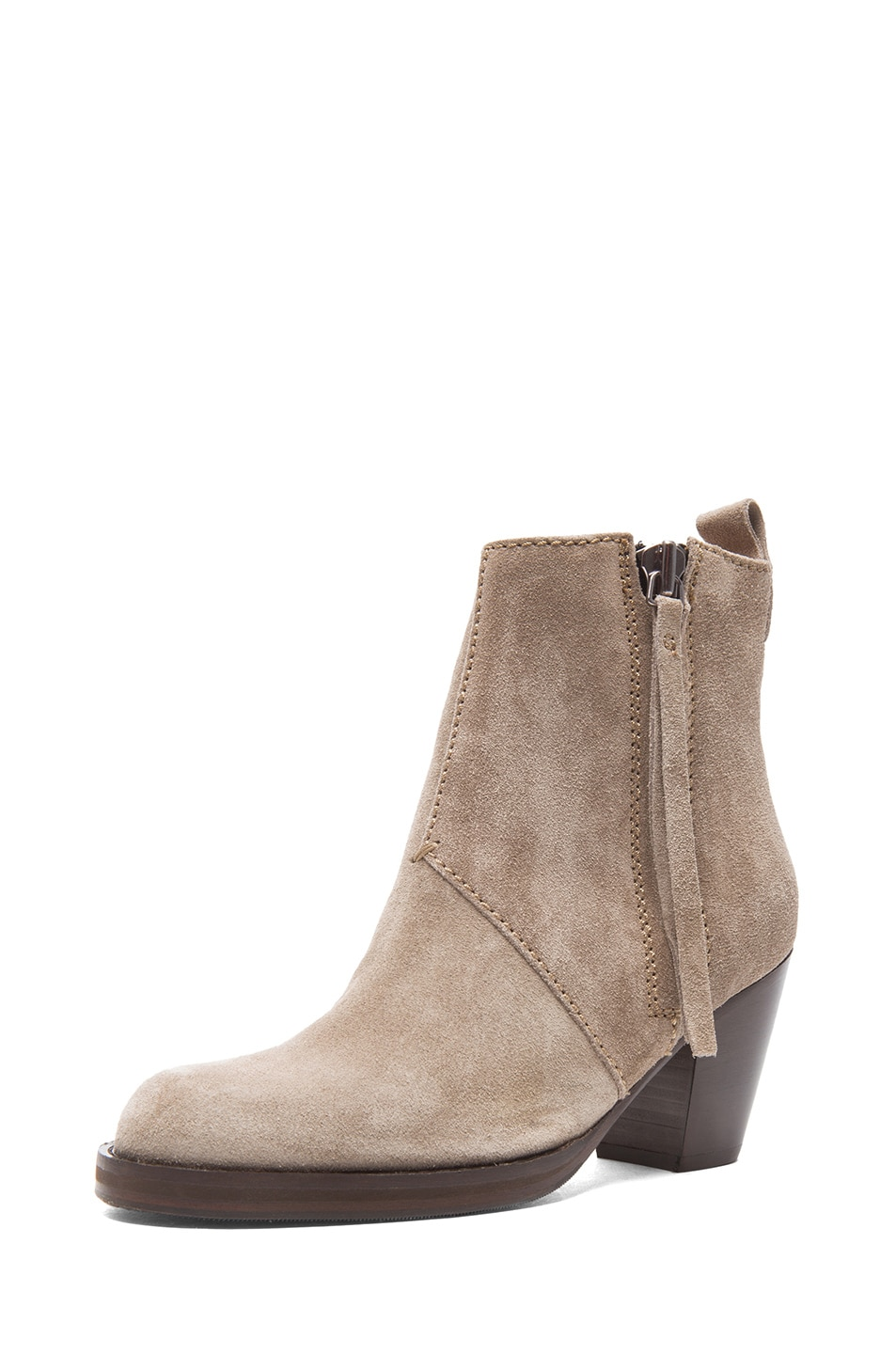 Image 2 of Acne Studios Pistol Suede Booties in Grey