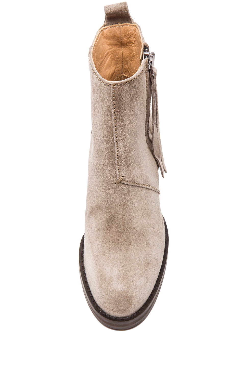 Image 4 of Acne Studios Pistol Suede Booties in Grey