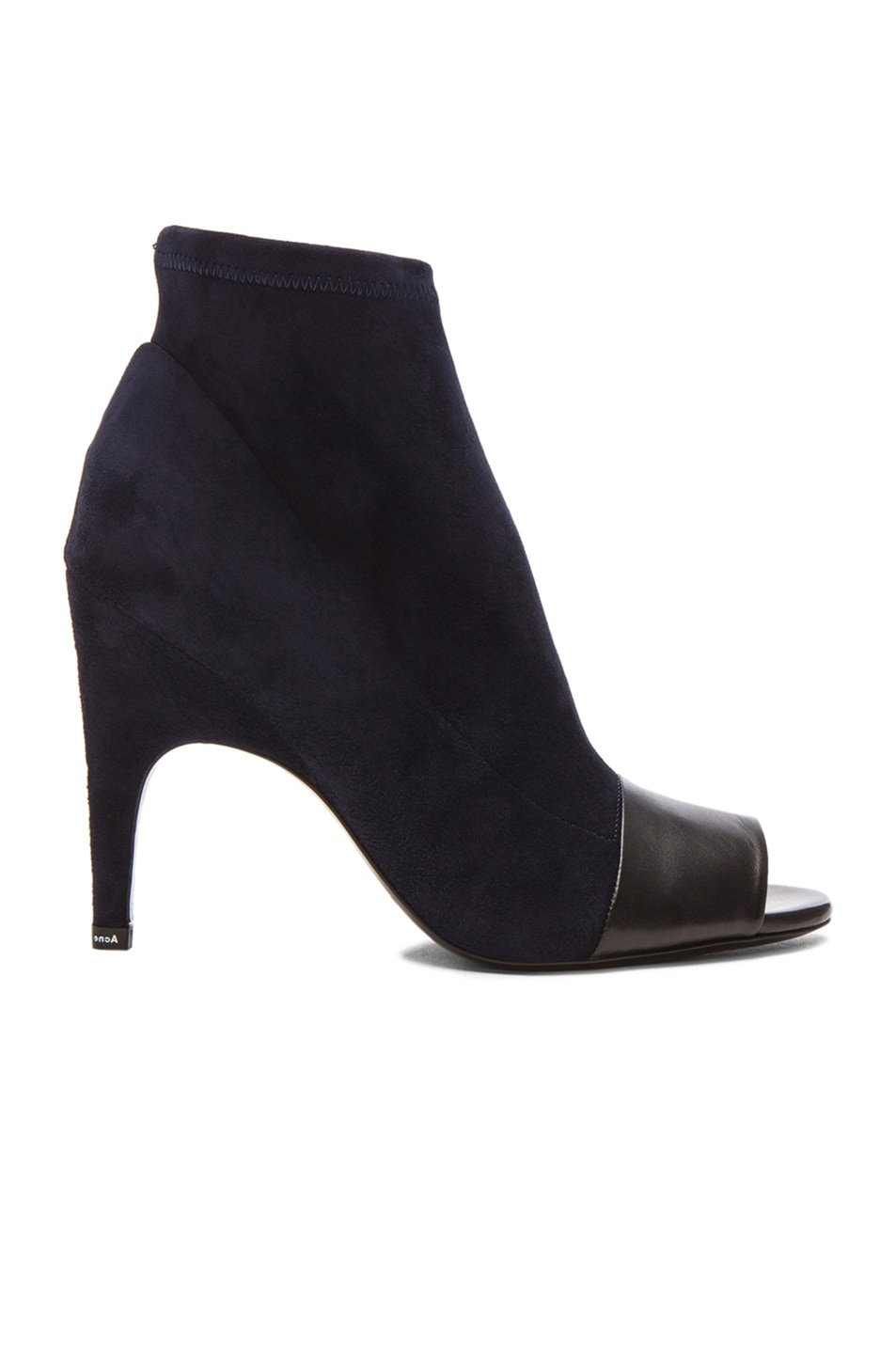 Image 1 of Acne Studios Vova Stretch Suede Booties in Navy