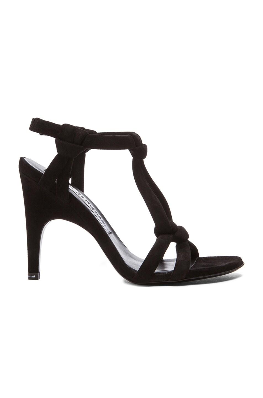 Image 1 of Acne Studios Bira Suede Sandals in Black