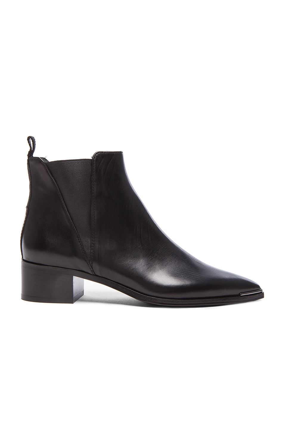 Image 1 of Acne Studios Jensen Leather Booties in Black