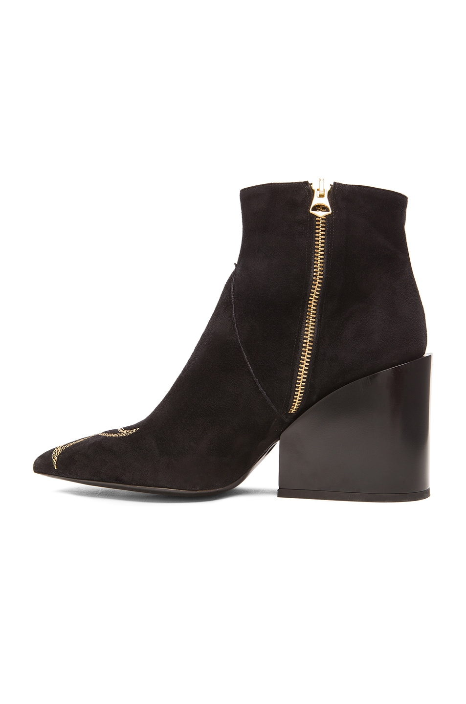 Image 5 of Acne Studios Angel Suede Boots in Black